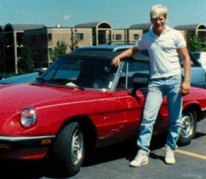 Chris Teien with Alfa Romeo in 1987