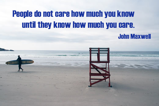 People want to know you care