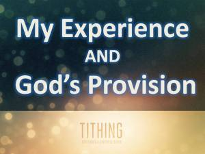 Tithing Experience Provision