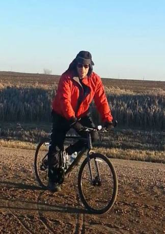 Riding when it is cold and windy