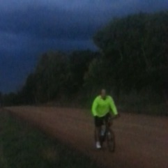 Riding at night in the dark