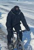 Riding in ice and snow 7 degrees and windy