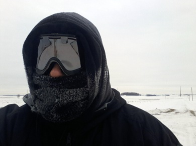 Riding -6 Below Zero -20 Windchill
