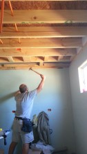 Have to add a board to attach sheetrock