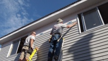 Lee and I putting up more siding