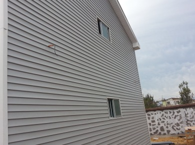 Siding is done on this side