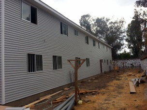Siding is done here too
