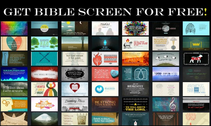 Get a new Bible verse art screen background every day with Bible Screen